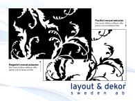 Växt m21 2400x1480mm, positiv dekor