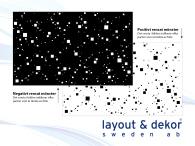 Pixles in space m1 2400x1480mm positiv dekor