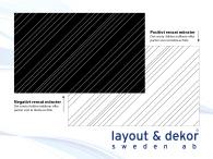 Linjer m19 2400x1480mm, positiv dekor