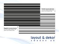 Linje m4 2400x1480mm, positiv dekor