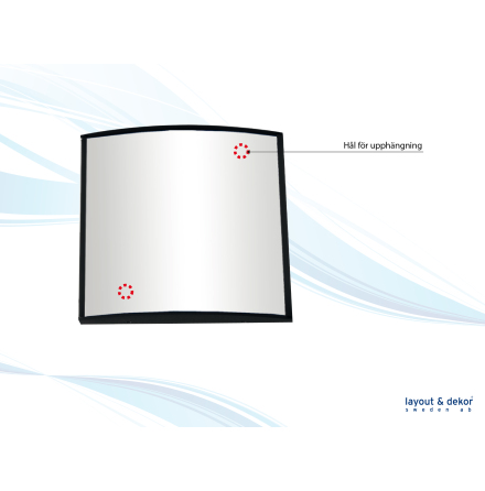 Håltagning aluminium, för montering av skyltmodul
