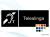 Pictogramskylt. TELESLINGA 225x80mm Ej taktil Med text