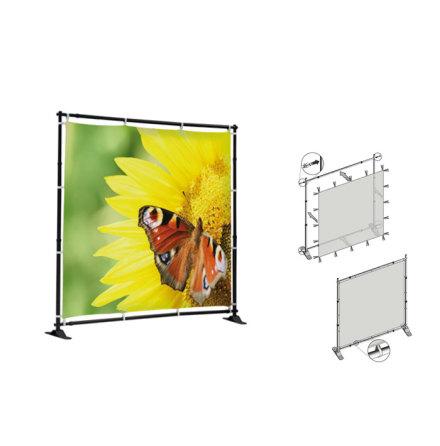 Flex Wall Stand 1500x1000mm, inkl printad textilvåd