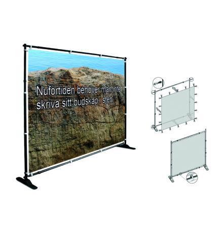 Flex Wall Stand 2000x1500mm, inkl printad textilvåd