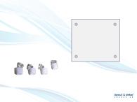 Signsnap, vita plastdistanser 4-pack 12x7mm