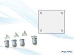 Signsnap, vita plastdistanser 4-pack 18x20mm