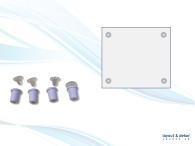 Signsnap, vita plastdistanser 4-pack 15x15mm