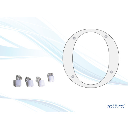 Signsnap, plastdistanser 4-pack 12x7mm