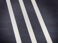 Vita kontrastlinjer för golvmarkering ränder 3st x25mm bredd