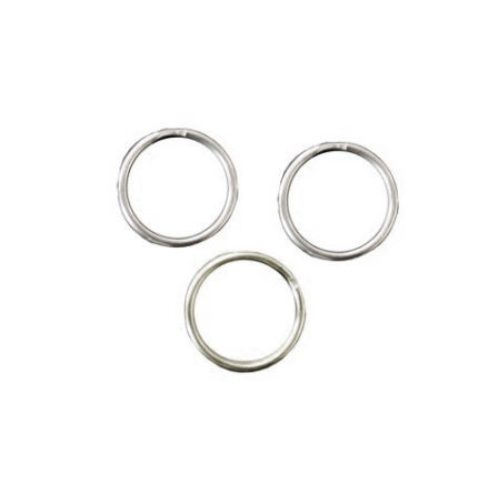 Nyckelring, silver, 20mm i diameter
