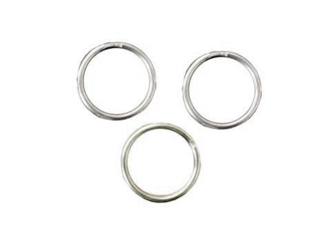 Nyckelring, silver, 25mm i diameter
