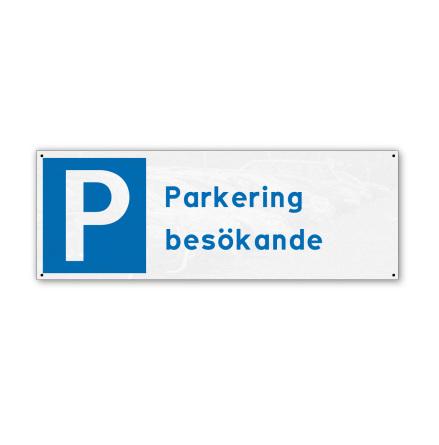 Skylt, parkering besökande, 280x100mm