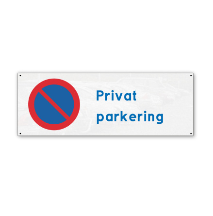 Skylt, privat parkering, 280x100mm