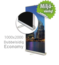 Roll up, Economy dubbelsidig, 1000x2000mm, inkl printad bildvåd