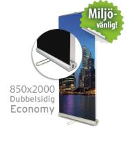 Roll up, Economy dubbelsidig, 850x2000mm, inkl printad bildvåd