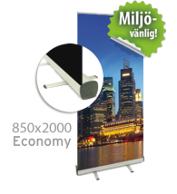 Roll up, Economy, 850x2000mm, inkl printad bildvåd