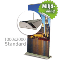 Roll up, Standard 1000x2000mm, inkl printad bildvåd