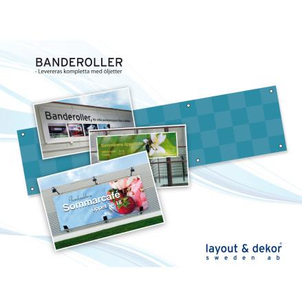 Banderoll 2000x1000mm digitalprint inkl 6 ölj.