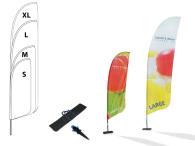 Beachflagga, strl L 920x3500mm inkl markskruv