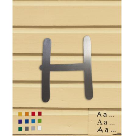 Bokstav/siffra 250mm, fasadsiffror i aluminium 1,5mm