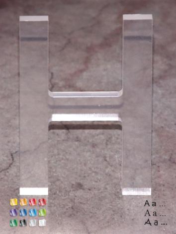 Bokstav/siffra 250mm, akryl 10mm
