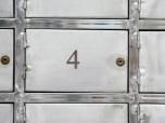 Bokstav/siffra 50mm, spvc 3mm, grå
