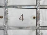 Bokstav/siffra 80mm, spvc 3mm, grå