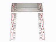 Häftkuddar, självhäftande, för skyltmontering skyltar h ca 180mm