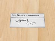 WB-Namnskylt, 204x31+62mm, med whiteboard-funktion