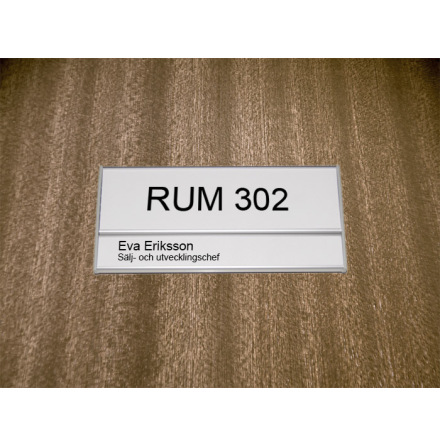 Rumsskylt 1-panel 204x62+31mm