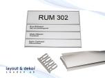 Rumsskylt 3-panel 204x62+31+31+31mm