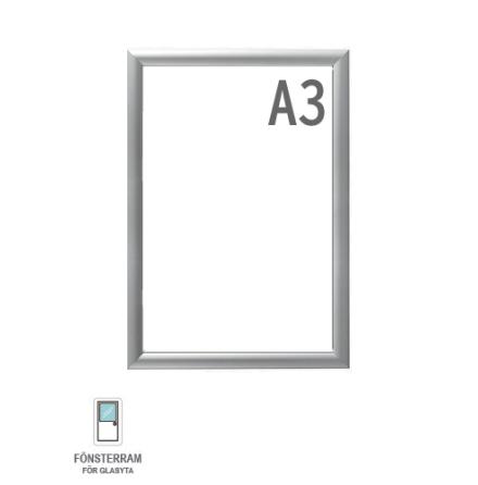 Snäppram, Window Frame A3, 25mm aluminiumprofil