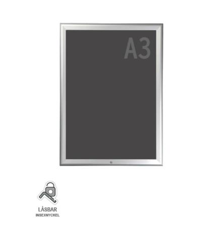 Snäppram, lockable A3s, 32mm aluminiumprofil