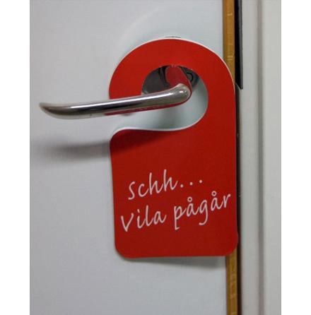 Dörrskyltar med egen text enkelsidig,10-pack