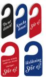Dörrskyltar med egen text dubbelsidig,10-pack