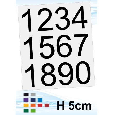 Sifferdekaler, h50mm, 1st ark, valfri färg