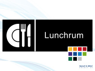 Pictogramskylt. LUNCHRUM 225x80mm Ej taktil Med text